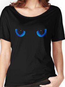 Black Cat Blue Eyes Women's Relaxed Fit T-Shirt