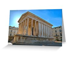Maison Carree Nimes Greeting Card