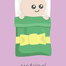 Gratulon (pro bebo) - verda litkovrilo by raevan