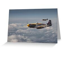 Mustang P51 - 442Sqdn RCAF Greeting Card