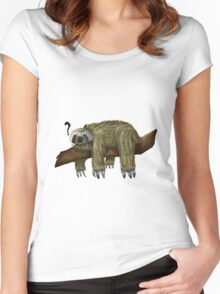 Confused Sloth Women's Fitted Scoop T-Shirt
