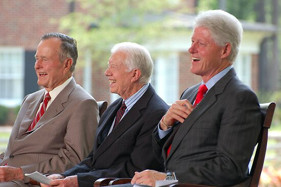 Three US Presidents Bush,Carter,Clinton  by Jonathan  Green
