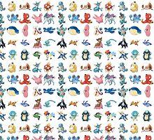 Water type Pokemon by Enriic7