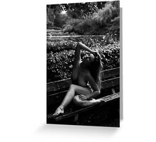 muse on a Park Bench Three Greeting Card