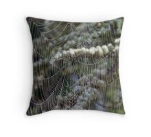 Spider's web Throw Pillow