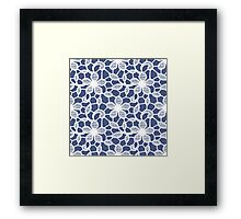 Lace, Seamless Pattern, Flowers. Framed Print