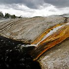 Outflow of Grand Prismatic Spring by Stephen Beattie