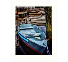 The Blue Boat #1 Art Print