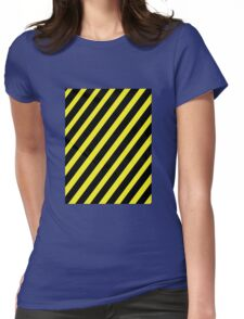 Warning Womens Fitted T-Shirt
