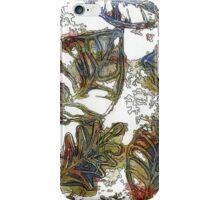 Leaves 17 Mixed Media - Ink on Acrylic Monoprint iPhone Case/Skin