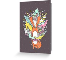 Abstract Fox Greeting Card