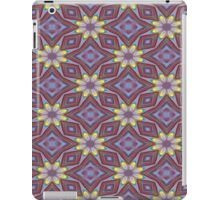 Yellow Flowers and Amethyst Diamonds Repeating Pattern iPad Case/Skin