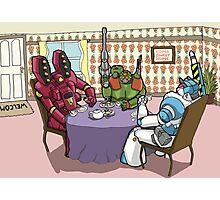 Killer-bot Tea party Photographic Print