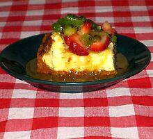 Strawberry Kiwi Carmel Cheese Cake by Linda Miller Gesualdo