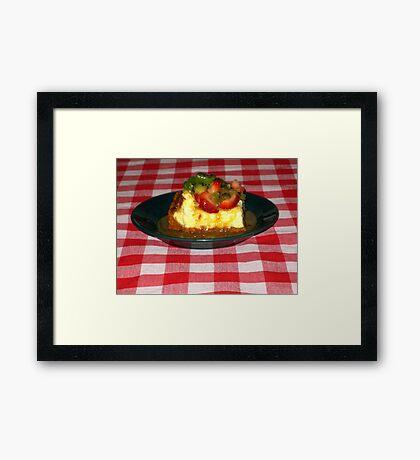 Strawberry Kiwi Carmel Cheese Cake Framed Print