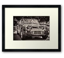 Old vintage British convertible car Austin Framed Print