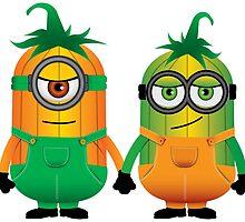 Minion Pumpkin Friends Forever by kridel