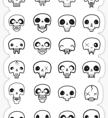 Skull me up Sticker