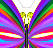 Butterfly Psychedelic Rainbow Sticker