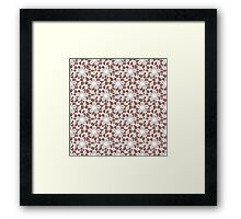Lace seamless pattern Framed Print