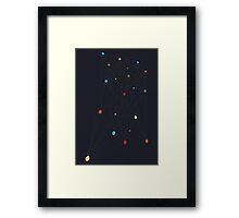 Points Connected Framed Print