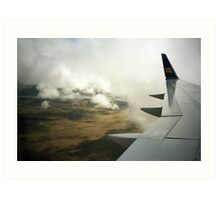 Lomo - Iceland from the sky Art Print