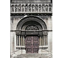 Door of church St Pierre, Lyon Vaise Photographic Print
