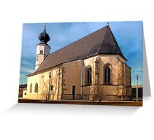 The village church of Sankt Veit / Mkr 1 | architectural photography Greeting Card