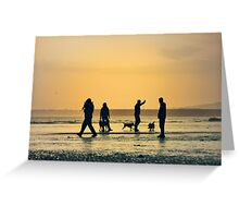 Low Tide Sunset - Hove #11 Greeting Card