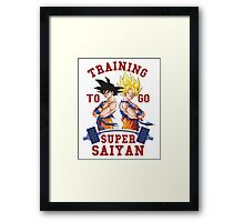 Training to go Super Saiyan 3 Framed Print