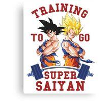 Training to go Super Saiyan 3 Canvas Print