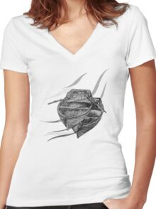 Undercurrents  Women's Fitted V-Neck T-Shirt