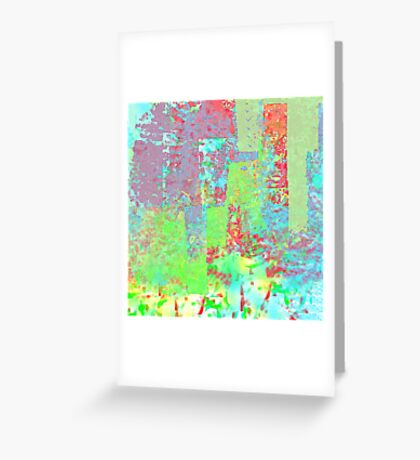 Decorative Abstract in Red, Orange, Green, Blue, and Purple Greeting Card