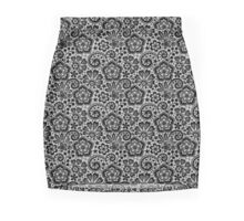 Black Lace Seamless Pattern. Mini Skirt