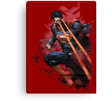 Superman man of steel in action Canvas Print