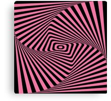 Op-Art Rad Rectangles in Pink Canvas Print