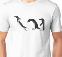 Birds - Illustration - Adelie penguins jumping  Unisex T-Shirt