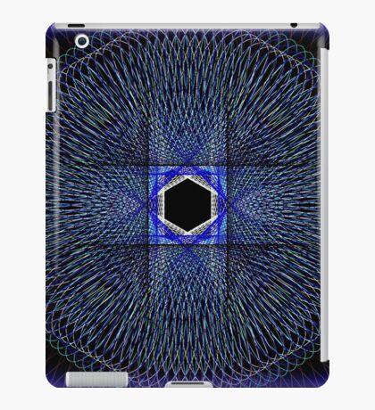 Blue Spirograph Pattern iPad Case/Skin