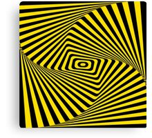 Op-Art Rad Rectangles in Gold Canvas Print