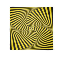 Op-Art Rad Rectangles in Gold Scarf