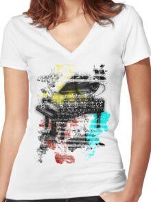 Art Women's Fitted V-Neck T-Shirt