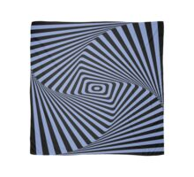 Op-Art Rad Rectangles in Blue Scarf