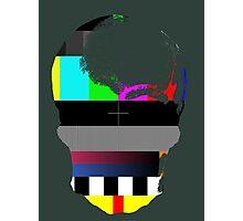 Skull TV Testing Photographic Print