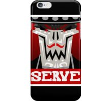 Guacamelee - Calaca Serve Poster (Obey Poster) iPhone Case/Skin