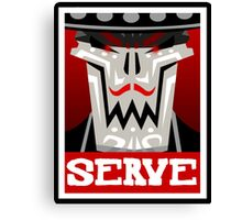 Guacamelee - Calaca Serve Poster (Obey Poster) Canvas Print
