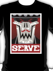 Guacamelee - Calaca Serve Poster (Obey Poster) T-Shirt