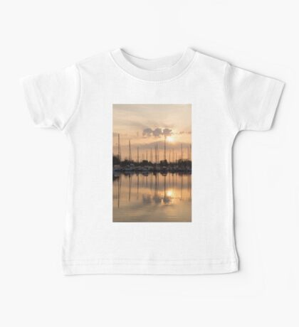 Pale Gold Sunrise With Yachts  Baby Tee