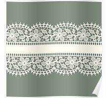Lace, Seamless Pattern, Flowers. Poster