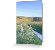 Path to Long Man, Wilmington, East Sussex Greeting Card