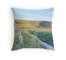 Path to Long Man, Wilmington, East Sussex Throw Pillow